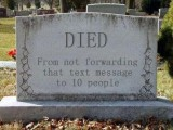 Died – From Not Forwarding Messages