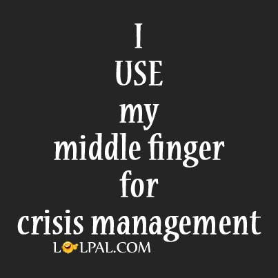For Crisis Management
