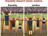 Equality does not mean Justice