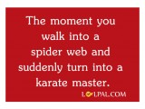 Suddenly Turn Into A Karate Master