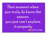 Moment When You Just Can't Explain