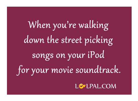 Walking Down The Street Picking Songs On IPod