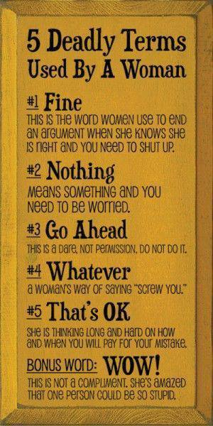 5 Deadly Terms Used By A Women